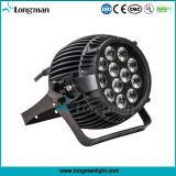 12HP 14W Rgbaw+UV LED de exterior luz PAR