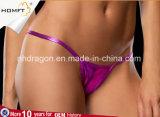 Cadena atractiva de G de las bragas de T-Back de las mujeres de sellado calientes de patente del cuero de las muchachas de la ropa interior atractiva de la correa
