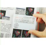 lupa Pocket relativa à promoção Hw-805 do curso do bolso da iluminação do Magnifier do cartão de 3X 6X