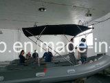 Pont ouvert Rib Bateau de pêche avec des moteurs hors-bord pour la vente