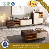 Armoire en bois moderne de verre aluminium / bureau de poste de travail Partition (UL-NM105)