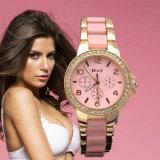 Keramische Plastikarmbanduhr-Plastikdame-Uhren der weißen Frauen-Vs-130
