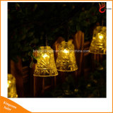 Jardim exterior decorações LED solares String de caracteres de Paisagem Solar Luz acende