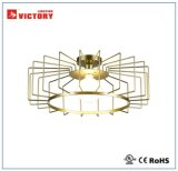 Luz de teto moderna do projeto do metal do estilo elegante com bulbo do diodo emissor de luz