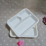 Подносов обеда авиакомпании поднос еды отсека устранимых Biodegradable с крышкой