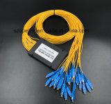 PLC van de Plastic Doos van de Telecommunicatie van Gpon 1X32 Splitser met Schakelaar