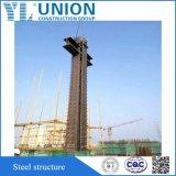 Procedura di costruzione della struttura d'acciaio per il magazzino
