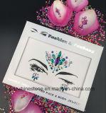 홍콩 황옥 가장 새로운 피부 안전한 당 눈 스티커 백색은 장식용 목을 박는다 바디 보석 마스크 Tatto 스티커 (E20)를