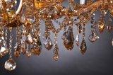 Neuer Kristallleuchter mit bernsteinfarbiger Glasdekoration