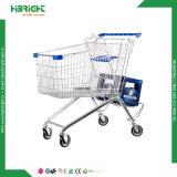 Trole da compra do aeroporto para a loja isenta de direitos aduaneiros e a loja