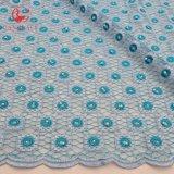 el azul del zafiro de la manera rebordea la tela suiza del cordón de Tulle de la red para la ropa