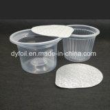 Крышки алюминиевой фольги на диаметр чашки запечатывания чашки воды 73 mm
