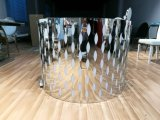 De aangemaakte Basis van het Roestvrij staal van het Patroon van de Bloem van het Glas Hoogste met de Luie Eettafel van Susan Disassemble Wedding