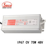 75W 48VCC 1.6A AC-DC à tension constante Driver de LED étanches IP67