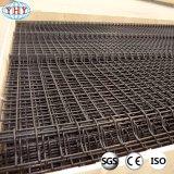 Панель сетки проволочной изгороди 10 датчиков черная сваренная