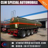 腐食性の液体の半タンカーの交通機関のトレーラー、高品質の半ステンレス鋼タンクトレーラー