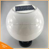 Bola lâmpada LED de exterior de pilar Solar Luz da Coluna de Jardim