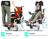 2018 Smart высокий Performence Tranist Складной алюминиевый двигатель электрической энергии инвалидной коляске