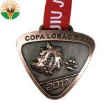 De Metal personalizados de alta calidad en Angola Jiu-Jitsu en 3D con la medalla de Premio Cinta Roja