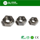 Noix Hex de soudure de plaine d'acier du carbone (DIN929)
