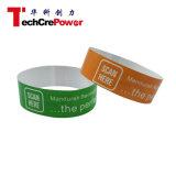 Wristband de papel disponible de la viruta 860-960MHz RFID de la ISO 18000-6b de la frecuencia ultraelevada EPC de Z007-O