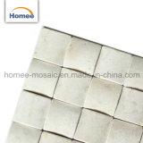 bricht kleines Brot 3D quadratisches Mosaik-preiswerte italienische beige Bodenbelag-Marmor-Sahnefliese ab
