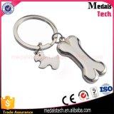 Morire l'anello rotondo poco costoso di Keychain del metallo placcato argento del getto