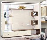6 portes Salon TV en bois de vitrines en verre