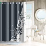 Classic Hookless impermeável a cortina do chuveiro sem revestimento de fecho de encaixe