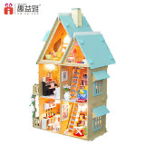 Casa de muñeca miniatura de DIY con el regalo feliz de la familia