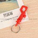 Пластиковый p крюк цепочки ключей, P обладателя ключа пластика, пластиковый крючок цепочки ключей с помощью P форму