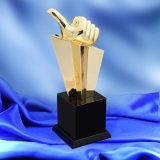 Новые металлические трофей трофей Crystal индивидуальные колесико с накаткой хорошего работника решений Конференции трофей игры