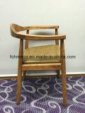 PUの革シート・クッションが付いているArmrestのラウンジの純木の椅子
