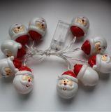 크리스마스 훈장 산타클로스 모양 LED 빛