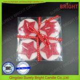 4 штуки крест-накрест Tealight свечи с магазином подарков Pack