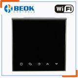 Regulador elegante semanal de la temperatura ambiente de WiFi del termóstato de la pantalla táctil del programa