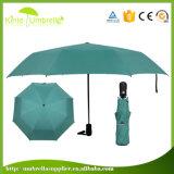 ULTRAVIOLETA fuertes protegen el paraguas negro del gel de la pongis para la señora
