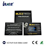 Beste verkaufen4.3 '' TFT Farbe LCD-bekanntmachende Karte vom Taubenschlag