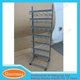 Stand s'arrêtant d'étage de crochets en métal au détail annexe avec des crochets de cheville