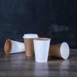 Papel de relevo descartáveis impresso personalizado chávenas de café