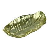 Figura Plates&Dishes di ceramica Handmade della piuma dell'oro per la decorazione di natale