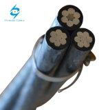 Алюминиевый кабель ABC кабеля ACSR 3*1/0 XLPE изолированный AWG надземный