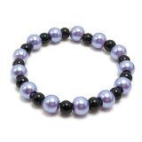 宝石類のFashioinの模造紫色のビードの弾力性のあるブレスレットの宝石類