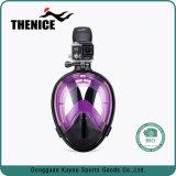 Máscara de equipamento de mergulho com snorkel máscara facial inteira Gopro