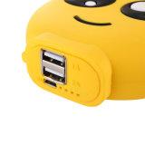 2600mAh Emoji Laught 눈물 귀여운 재미있은 선물 만화 PVC 외부 건전지 휴대용 충전기 힘 은행
