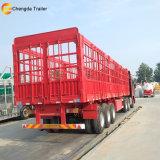 半3つの車軸販売のための赤い塀の貨物トレーラー