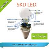 Peças do bulbo do diodo emissor de luz do alumínio PBT 7W-12W 110V-220V 2700K-6400K da alta qualidade