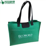 Form-Grün-Filztote-Beutel-Filz-Einkaufstasche mit Tasten-Schliessen