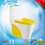Tazón de fuente de tocador amarillo del asiento de tocador del color de China Sanitaryware Bc-2027y