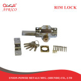1 Na América do Sul Cerradura Porta embutida do cilindro de latão externo do parafuso da barra de bloqueio da RIM